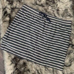 ❤️ Ann Taylor LOFT Gray Stripe Skirt